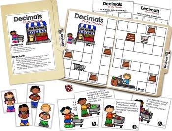 Decimal Place Value & Rounding Game: Decimals at the Market