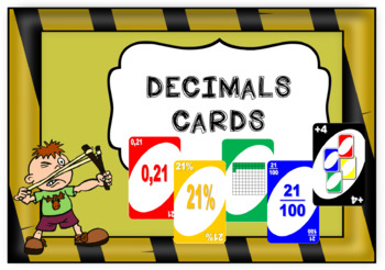 Decimals cards - Wild - Uno