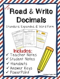 Decimals in Different Forms (Standard, Expanded, Word)