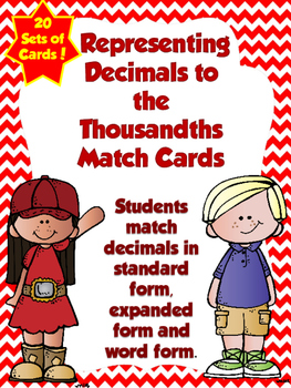 Decimals in Expanded Form Match