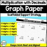 Multiplying Decimals Worksheets: Multi-Digit Multiplication on Graph Paper