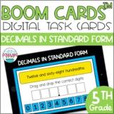 Decimals in Standard Form BOOM CARDS™ Digital Task Cards