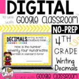 Decimals in Standard Form Digital Task Cards for Google Classroom