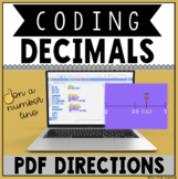Coding Decimals on a Number Line