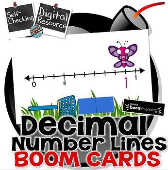 Decimals on a Number Line Boom Cards™  Digital Task Cards