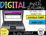 Decimals on a Number Line Digital Task Cards- Google Forms