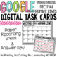 Decimals on a Number Line Digital Task Cards for Google Classroom