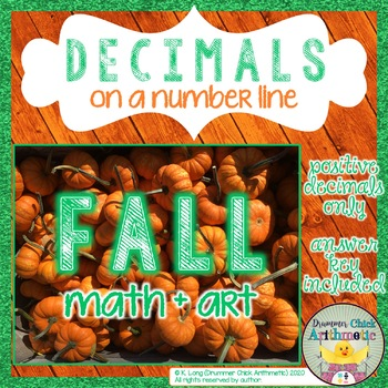 Graphing Decimals on a Number Line - Positive Numbers - Fall Edition