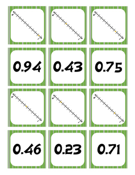 Decimals on a Number Line Go Fish