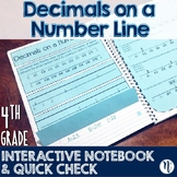 Decimals on a Number Line Interactive Notebook & Quick Che