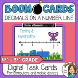 Decimals on a Number Line Tenths and Hundredths Boom Cards