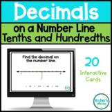 Decimals on a Number Line Tenths and Hundredths Digital Ta