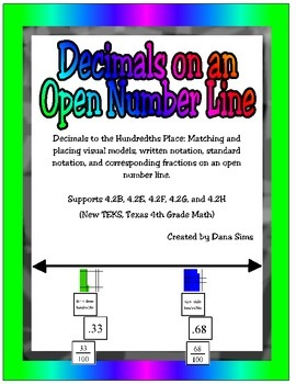 Decimals on an Open Number Line: New TEKS 4th Grade Math