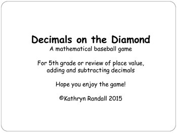 Decimals on the Diamond