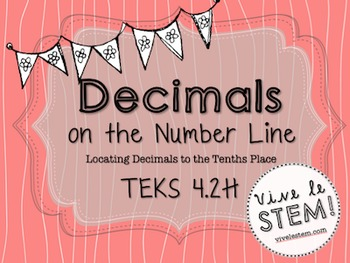 Decimals on the Number Line Task Cards (TEKS 4.2H)
