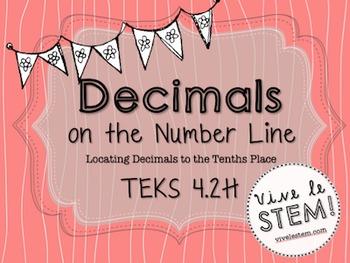 Decimals on the Number Line Task Cards (TEKS 4.2H)