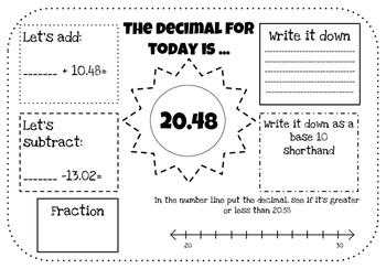 Decimals place value and ordering decimals!