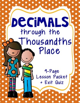 Decimals through the Thousandths Place: Standard, Word, and Fraction Form