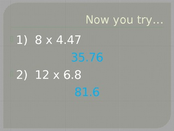 Decimals times whole numbers and other decimals