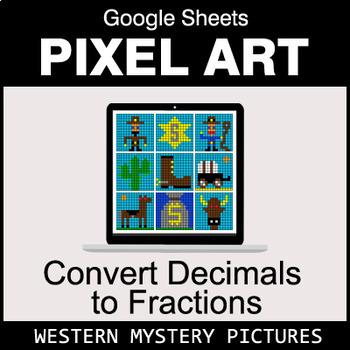 Decimals to Fractions - Google Sheets Pixel Art - Western