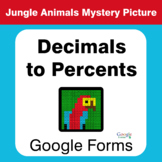 Decimals to Percents - Animals Mystery Picture - Google Forms