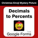 Decimals to Percents - Christmas EMOJI Mystery Picture - G