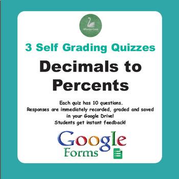 Converting Decimals to Percents Quiz (Google Forms)