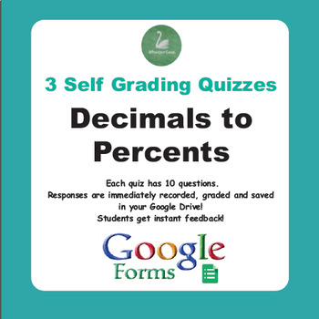 Converting Decimals to Percents Quiz (Google Forms)