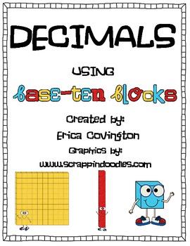 Decimals With Base Ten Blocks Teaching Resources | Teachers Pay Teachers