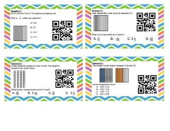 Decimals with Models QR Task Cards