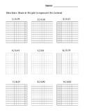 Decimals with base ten block grid