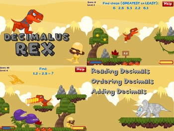Decimalus Rex - Math Decimals Computer Game (Playable at RoomRecess.com)