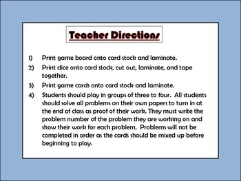 Deciphering Data Board Game - 7th Grade Common Core Aligned