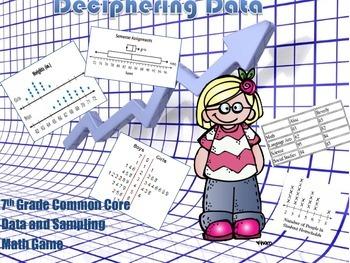 Deciphering Data Board Game - 7th Grade Common Core Aligned