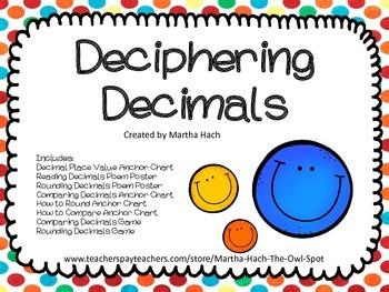 Deciphering Decimals Activities