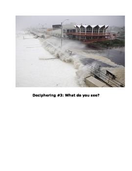 Deciphering Images after hurricanes, earthquakes and floods