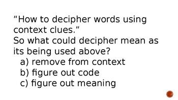 Deciphering Words Through Context Clues
