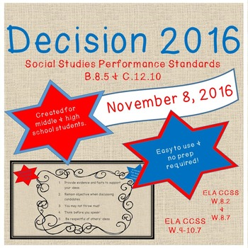 Election 2016 (Unit for ELA and/or Social Studies)