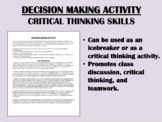 Decision Making Activity - Critical Thinking Skills - Icebreaker