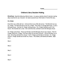 Decision Making Activity - Entrepreneurship Ch. 1.3 - 1.4