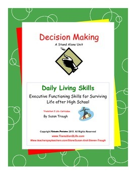 Decision Making Workbook-Daily Living Skills