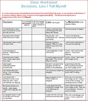 Decision Making Lesson 2 -- Lies I Tell Myself