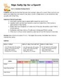 Decision-Making Matrix and CER Activity (Sign Sally Up for