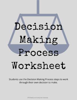 Decision Making Process Worksheet