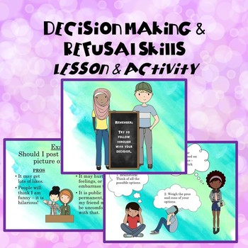 Decision Making and Refusal Skills Lesson and Activity Bundle