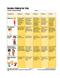 Decision Making for Kids: Teambuilding Rubric