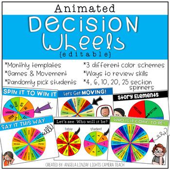 Animated Decision Wheels {EDITABLE}