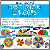 Animated Decision Wheels / Digital Spinners {EDITABLE}