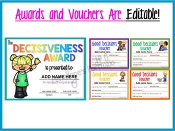 DECISION MAKING SKILLS Character Education Packet