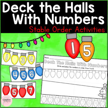 Deck The Halls With Numbers Stable Order Activities (FRENCH version included)